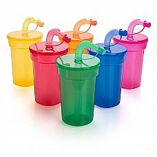 Bicchiere in plastica con cannuccia