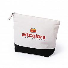 Beauty case bicolore in cotone