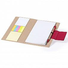 Blocknotes con cover soft-touch in cartone riciclato