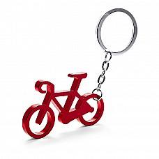 Portachiavi in alluminio a forma di bici