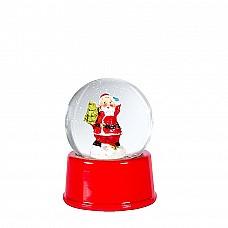 Sfera di vetro con Babbo Natale