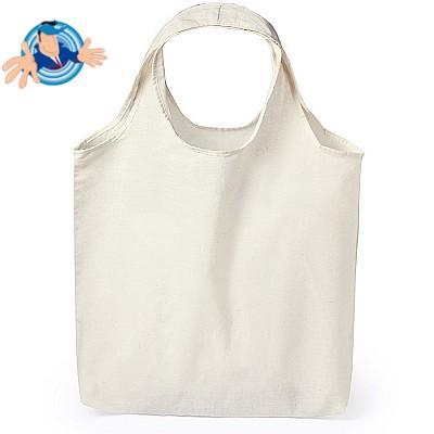 Shopper in cotone con manici a spalla