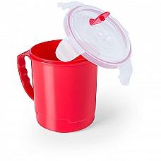 Tazza in plastica con coperchio