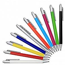 Penna a sfera in plastica in colori brillanti