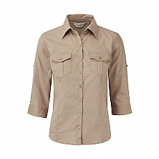 Camicia donna a maniche 3/4 con risvolto