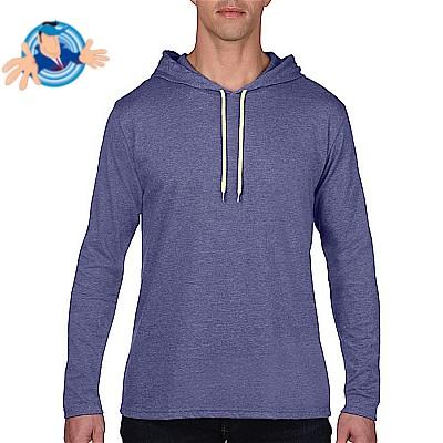 T-shirt manica lunga con cappuccio