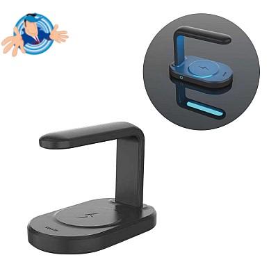 Caricatore Wireless con Luce UV elimina i germi dal telefono.