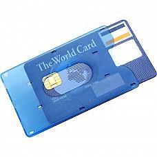 Portacarte di credito in plastica frosty