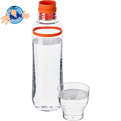 Borraccia in plastica trasparente