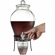 Distributore di bevande in vetro