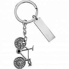 Portachiavi bicicletta in metallo