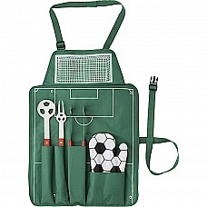 Set barbecue con grembiule campo di calcio