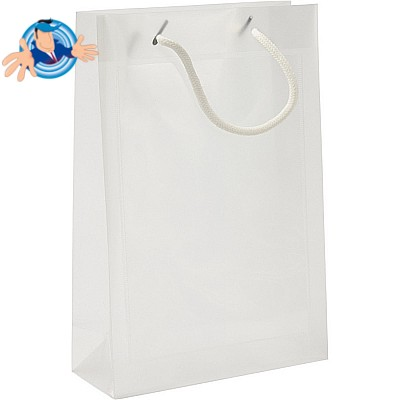 Shopper in PP con tasca laterale trasparente