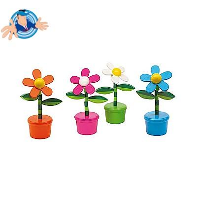 Giocattolo a pulsante a forma di fiore