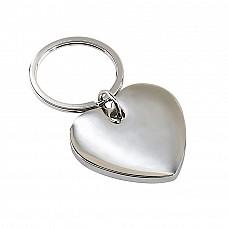 Portachiavi in acciaio a forma di cuore