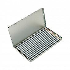 Set 12 matite colorate in confezione in metallo