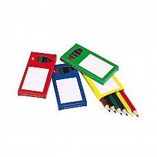 Set 6 matite in box colorato