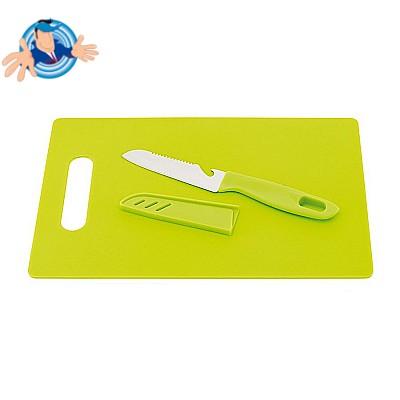 Set tagliere da cucina e coltello