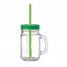 Bicchiere a forma di barattolo di vetro