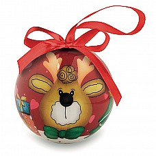 Palla di Natale in scatola colorata