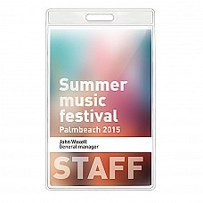 Porta badge trasparente 7,5x12,5 cm