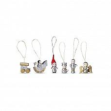 Set 6 decorazioni natalizie