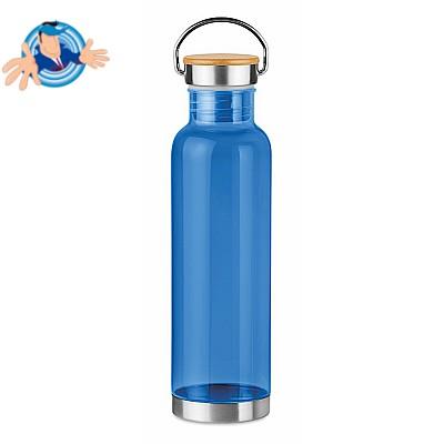 Bottiglia in tritan da 800 ml con tappo in acciaio e bamboo