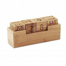 Calendario permanente in bamboo