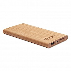 Caricatore e Power bank in bamboo