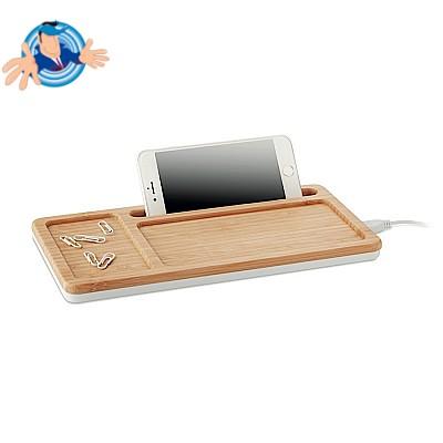 Caricatore per smartophone e multiporta USB in bamboo