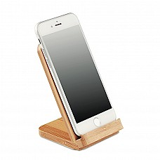 Caricatore wireless e stand in bamboo