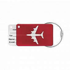 Etichetta per bagaglio in alluminio