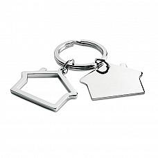 Portachiavi a forma di casetta in metallo
