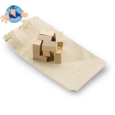 Puzzle in legno tridimensionale