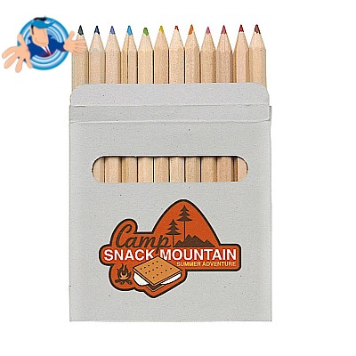 Set 12 matite colorate in confezione di cartone