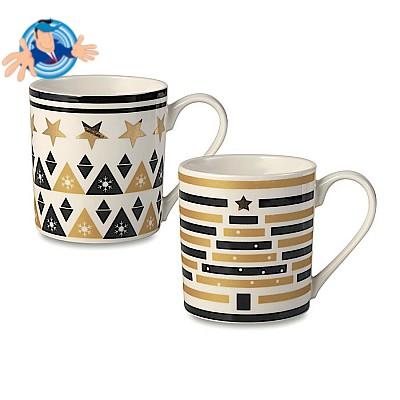 Set 2 tazze di ceramica in confezione regalo