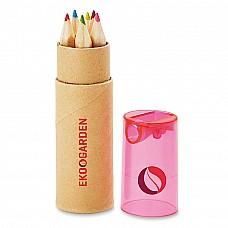Set 6 mini matite colorate