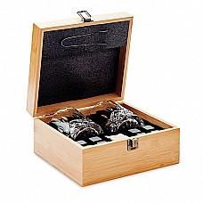 Set regalo whisky in bamboo