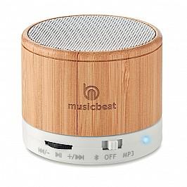 Speaker Bluetooth in bamboo con funzione chiamata