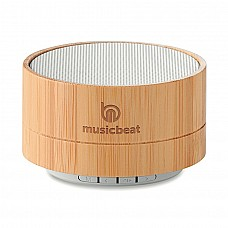 Speaker Bluetooth in bamboo con luce