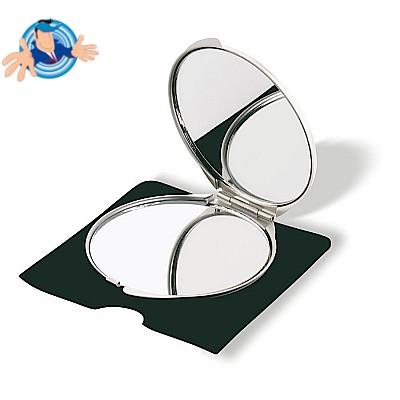 Specchietto in alluminio in astuccio di velluto