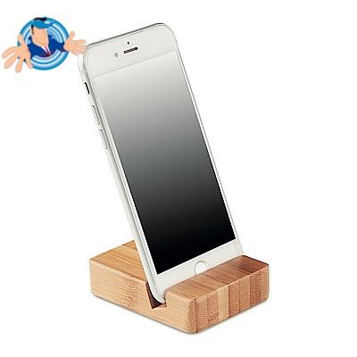 Stand per cellulare in bamboo personalizzabile