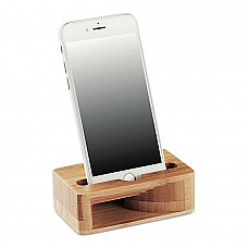Stand per smartphone in bamboo personalizzabile