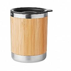 Tazza in bamboo e acciaio inossidabile