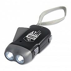 Torcia dinamo con 2 LED
