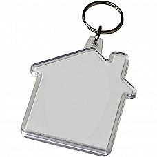 Portachiavi casa con inserto personalizzabile