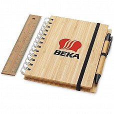 Set notebook A5 in Bamboo