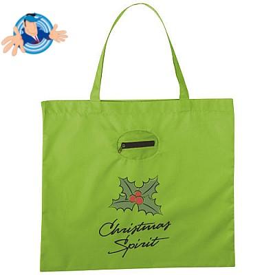 Shopper ripiegabile in pouch portachiavi