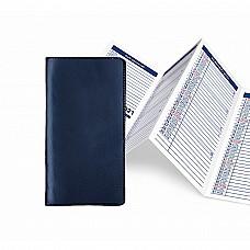Agendina mensile in PVC con rubrica telefonica