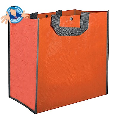 Borsa shopper in polipropilene con soffietto